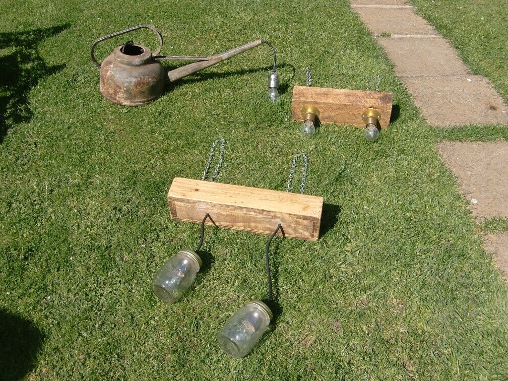 innovative design 3b37c afb81 rustic lights . very rustic watering can light . 2 x wooden box lights £10  each | in Leicester, Leicestershire | Gumtree