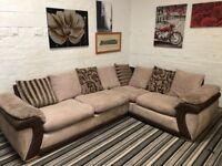 Cord Suede Material Large Corner sofa