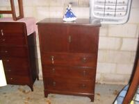 Super 1930's Oak Tallboy Dressing Chest Of Drawers Quality