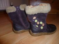Girls Clarks boots size 5F