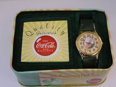 Vintage Coca-Cola Watch and TIn (L1)