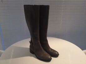 Dune grey knee high boots size 5