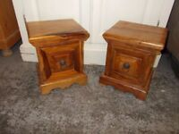 TWO MATCHING SHEESHAM STORAGE CHESTS IN EXCELLENT USED CONDITION FREE LOCAL DELIVERY 07486933766