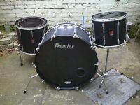 "Premier ""hybrid"" drums with 26"" bass drum"