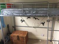 Single high metal bed frame