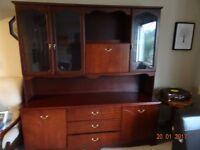 mahagony display cabinet, immaculate condition, with plenty of storage
