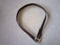 Brown leather belt.......just £1
