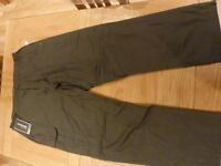 NEW MEN'S CRAHOPPERS WINTER LINED TROUSERS WAIST 42 LONG LENGTH IN GREY