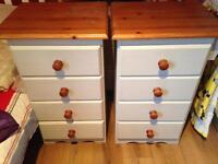 2 X pine tall drawers