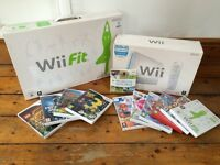Nintendo Wii & Wii Fit Bundle + Games