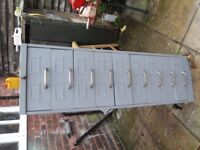 Metal filing cabinet with 9 draws