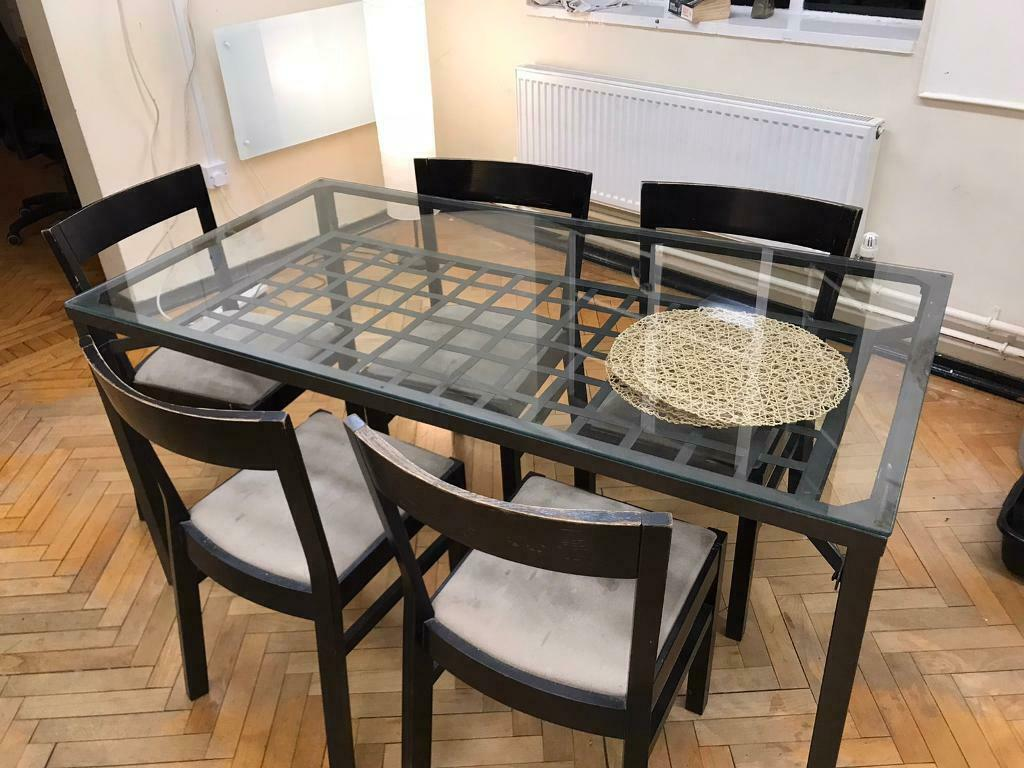 ikea glass dining table and chairs  in forest hill