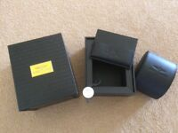 Breitling boxs, certificates and spare links