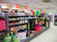 Shop Fittings including Shelving, Light Boxes, Euro Hooks - Excellent Condition