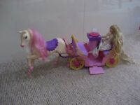 HORSE AND CARRIAGE WITH DOLL