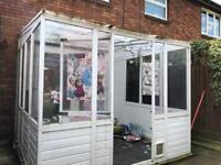 Free pvc plastic lean to conservatory .