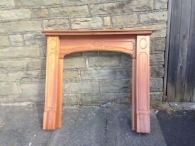 Oak fire surround mint condition