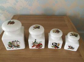 Royal Winton set of 4 storage jars in excellent condition