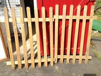 2 x WOODEN SLATTED GARDEN PATIO FENCING /GATES - LEICESTER