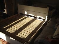 Large Wooden Bed. Retails at over £600 from the Big Bed Company. Plank Bed