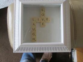 Live Laugh Love Scrabble Letters Picture Frame