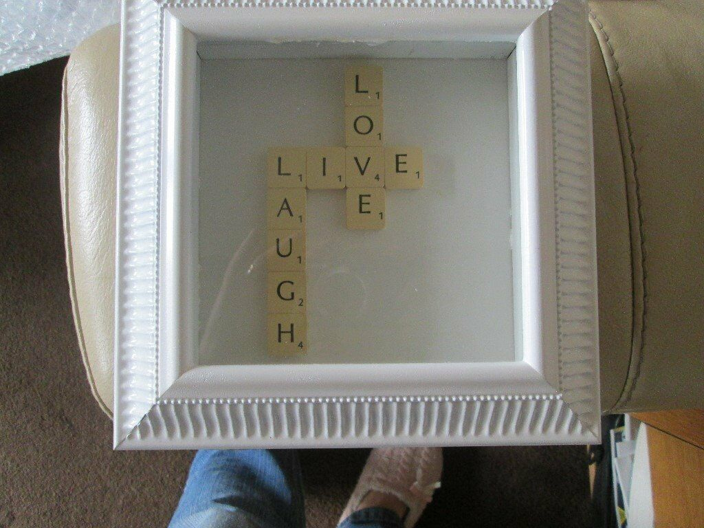 Live Laugh Love Scrabble Letters Picture Frame