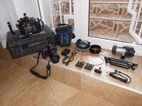 Hugyfot Underwater Camera Set up with Fuji S5 Pro Camera