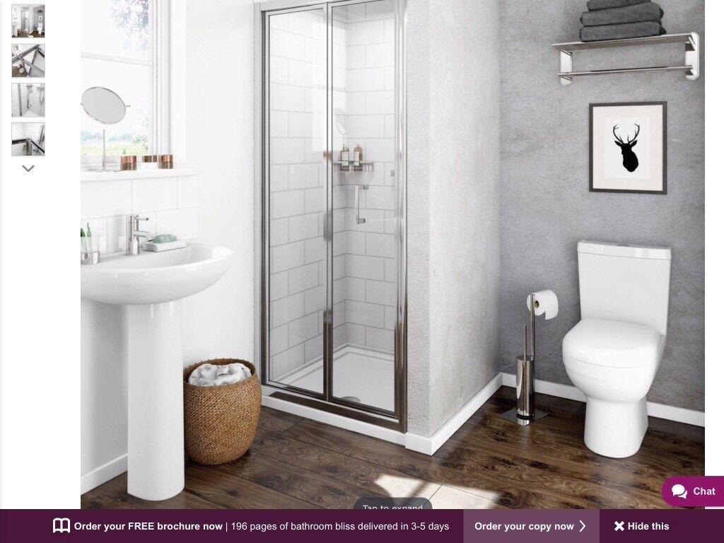 Shower door, bi fold,