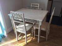 Wooden table and 3 chairs BARGAIN