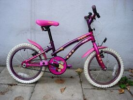 Kids Bike, by Apollo, Purple & Pink, 16 inch Wheels for Kids 5+ Years, JUST SERVICED / CHEAP PRICE!!