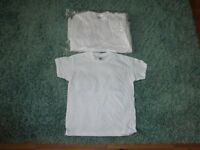 BRAND NEW 12 x white T-shirts 9 - 11 years