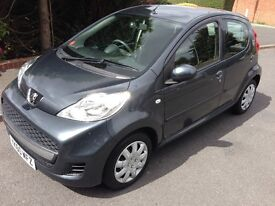2010 60reg Peugeot 107 Urban 1.0 Grey 53k FSH MOT'd CD Low tax Low Insurance HPi Clear £2595
