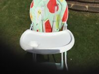 Highchair As new folds quite small