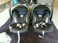 Britax group 0 car seat carriers, isofix bases and extras