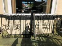 Iron railings and gates