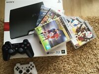PlayStation 3 Slim 320GB + 7 games (including FIFA 16) + 2 controllers