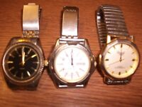 WATCHES 3 SURPLUS TO REQUIREMENTS (SEE PICS ).