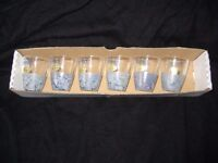 Set of 6 Hand Painted Miniature Glasses