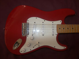 Fender Stratocaster SSS Mexico , Mexican , MIM , Electric Guitar 1996-1997 / Red.