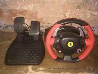 Ferrari Thrustmasters 458 Italia Xbox One Gaming Wheel and Pedals Ferrari Wheel
