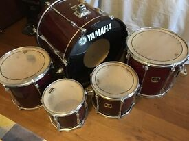 5 piece Yamaha Stage Custom Advantage drum kit + Cymbals + Soft cases + Lots of hardware