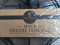 ( New ) 2 x 4 pack Mason & Jones Deluxe Fencing