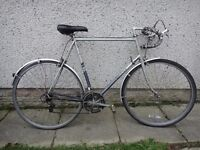 Raleigh Nova retro road bike, 700 wheels, 10 gears, 25 inch frame, mug guards