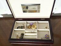 jewellery box rings necklaces mirror present