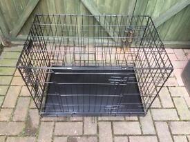 As new black folding dog/animal cage