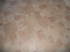 Vinyl flooring measuring 1 metre wide by 4.2 long