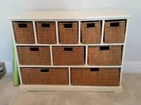 Farmhouse 10 Basket Drawer unit