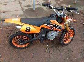 Kids 50cc kxd dirt bike - orange