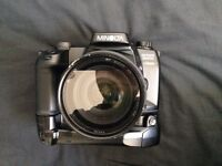 Minolta Film Camera with lenses etc