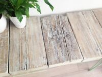 Reclaimed Wood Desk/Console Table, Hairpin Legs, +Free Floor Protectors